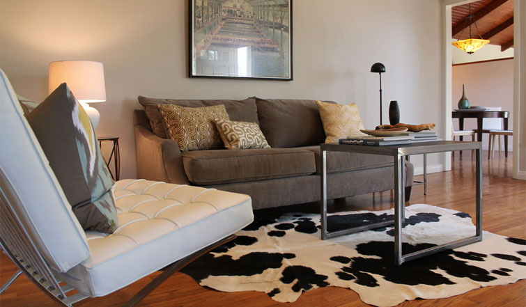 Decorate your house with exquisite cowhide rug.