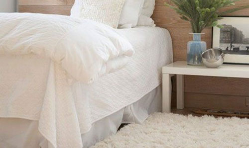 Flokati rugs are one of the most popular choices to place in your bedroom.