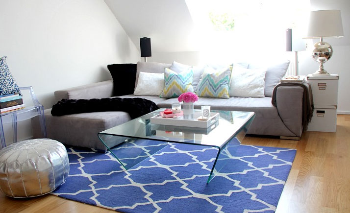 Modern Contemporary Living Room Area Rugs.