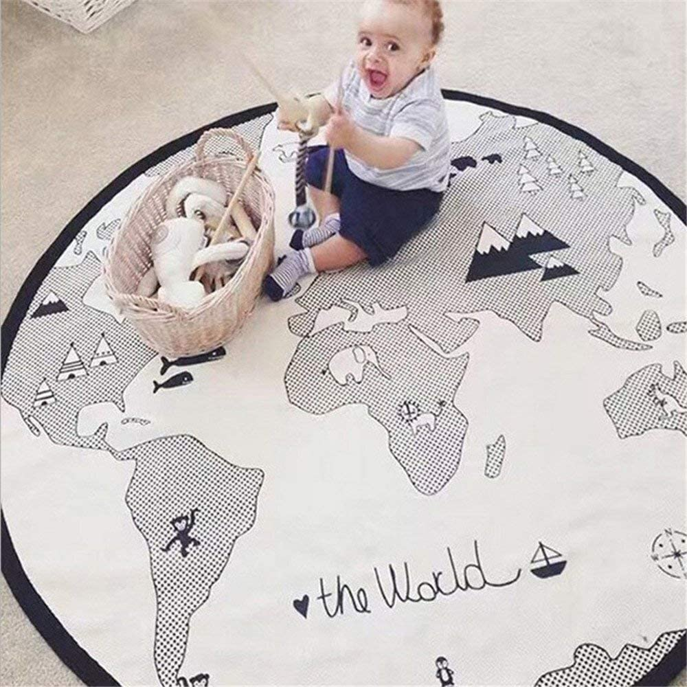 Best Gender Neutral - Adventure World Map Round Rug