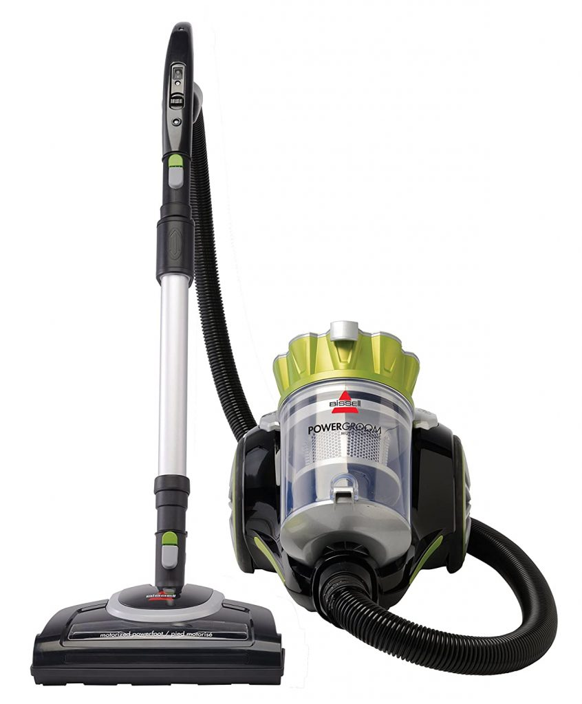 Bissell Powergroom Multicyclonic Bagless Canister Vacuum is our choice for bagless vacuum.