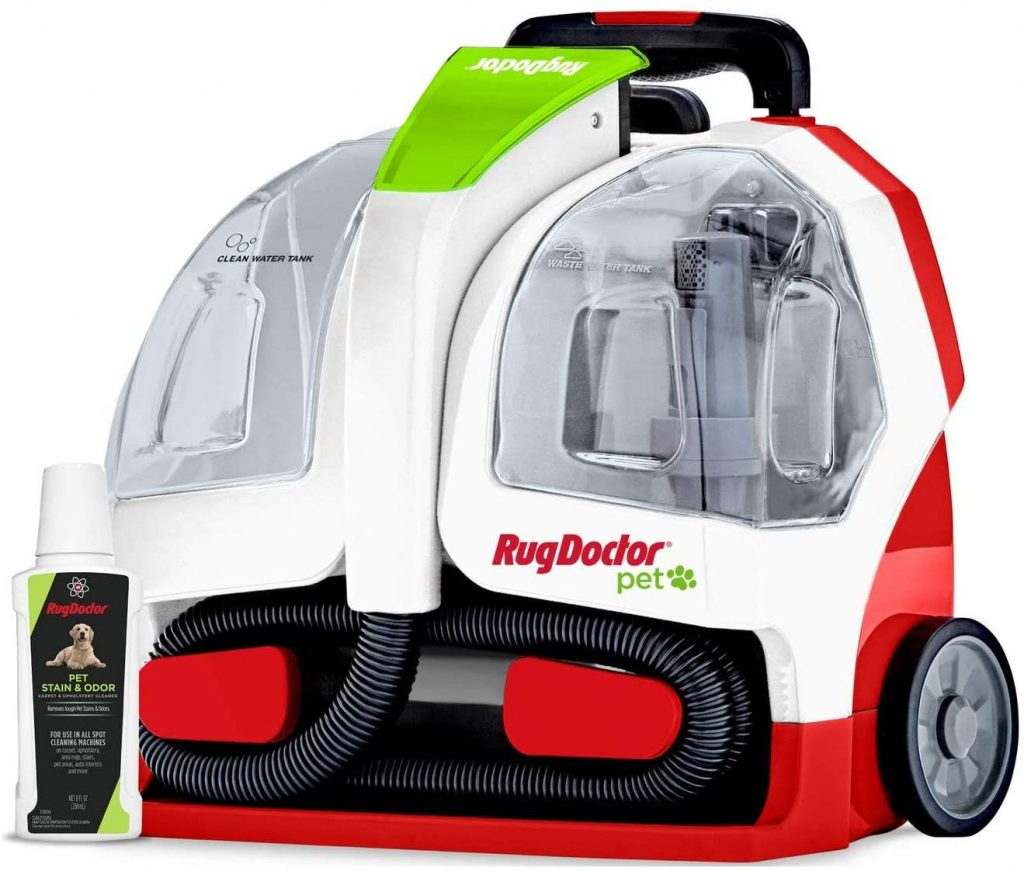 Rug Doctor Pet Portable Spot Cleaner is the Best Vacuum for Pet Hair.