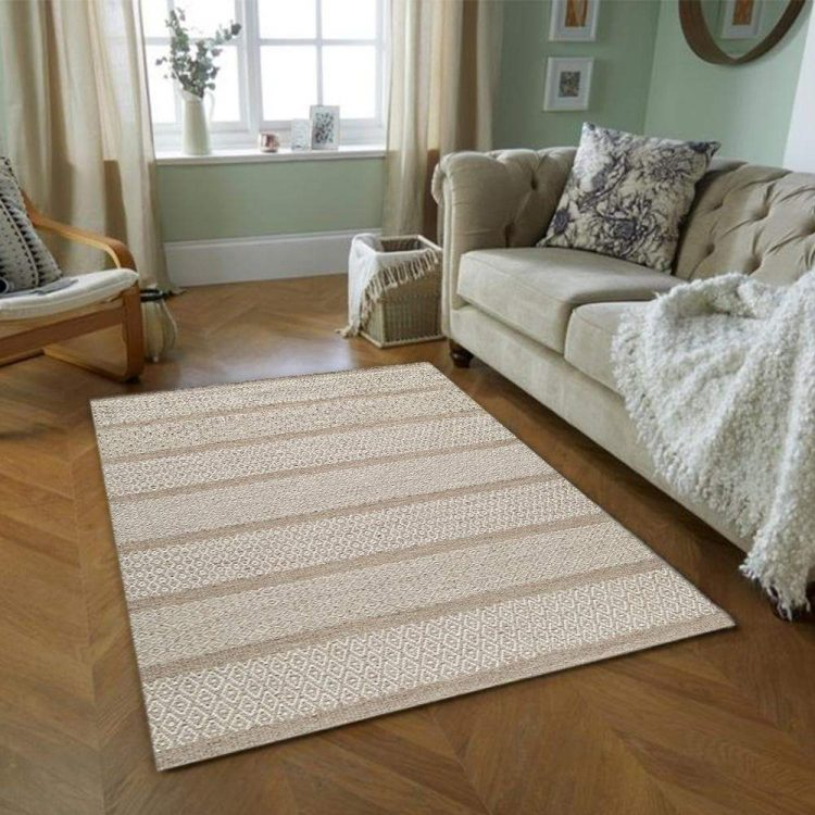 Tan Geometric Area Rug by RugKnots.