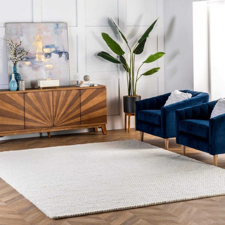nuLOOM Caryatid Handwoven Solid Wool Area Rug