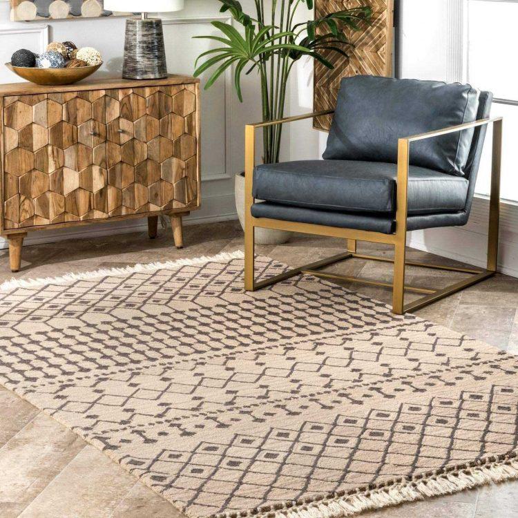 nuLOOM Emmeline Wool Modern Trellis Area Rug