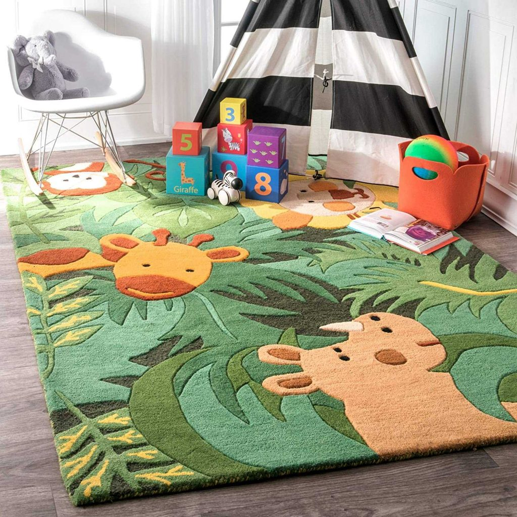 Best Wool - nuLOOM Kinder Safari Friends Wool Area Rug