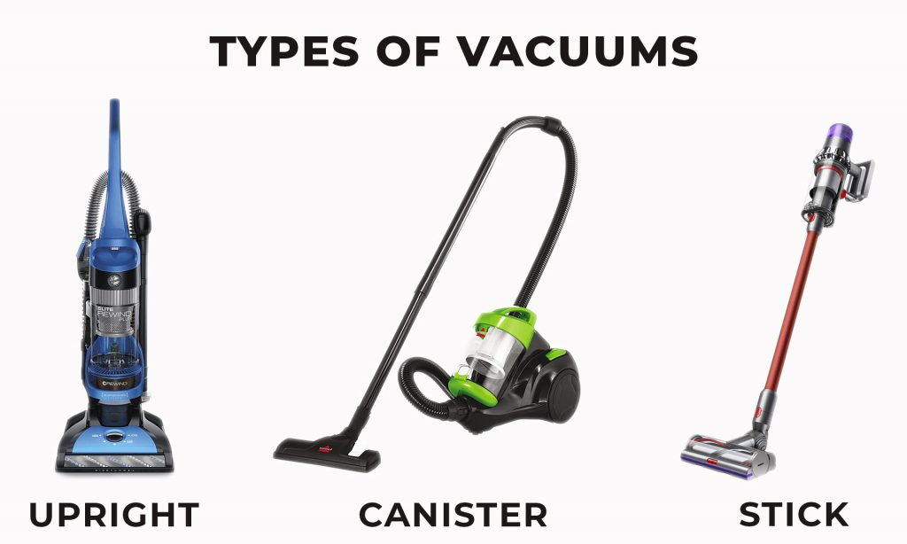 Let's see what types of vacuum you can find on the market.