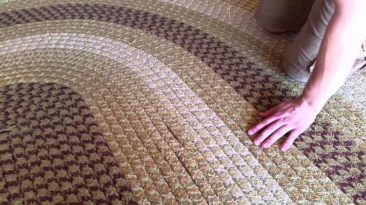 Wool braided rug.